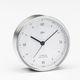 horloge analogique / en chrome