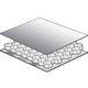 panneau sandwich pour isolation phonique / nid d'abeille en aluminium / aluminium