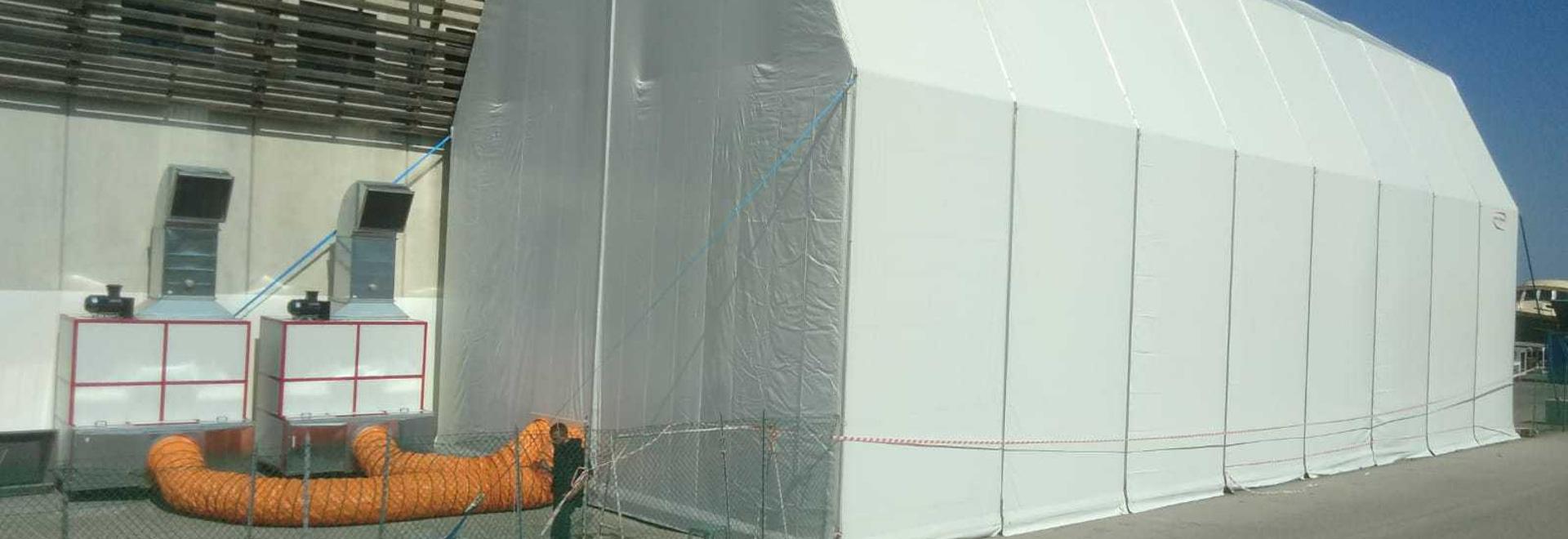 Cabine de peinture pour yachts