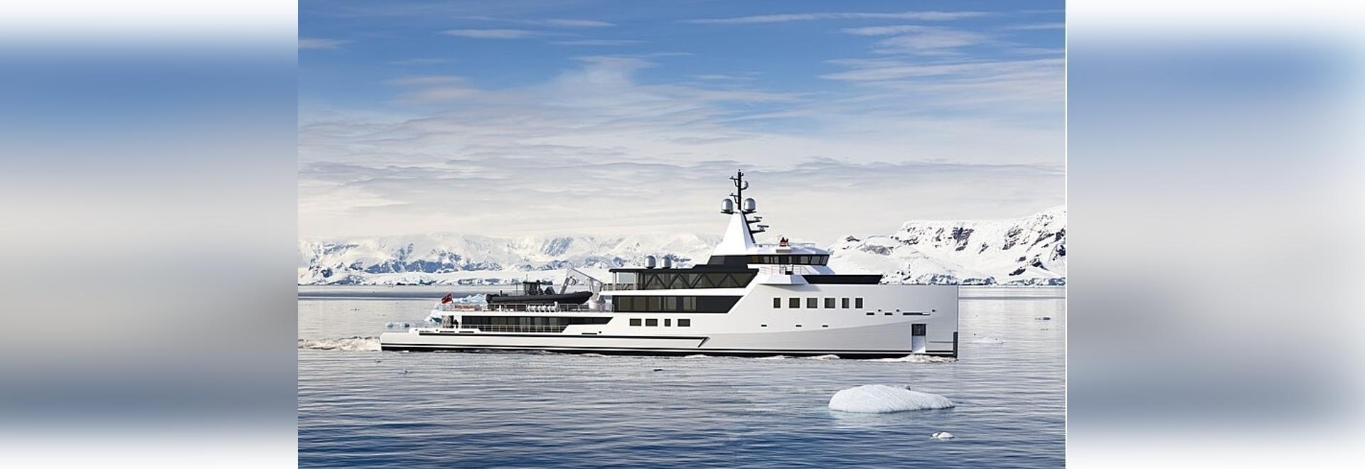 Damen Yachting signe un nouveau yacht d'exploration hybride de 72 mètres