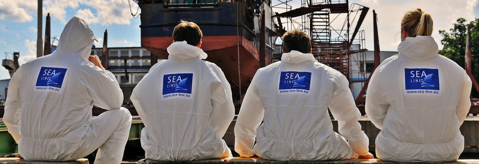 Distribution de ligne de la mer