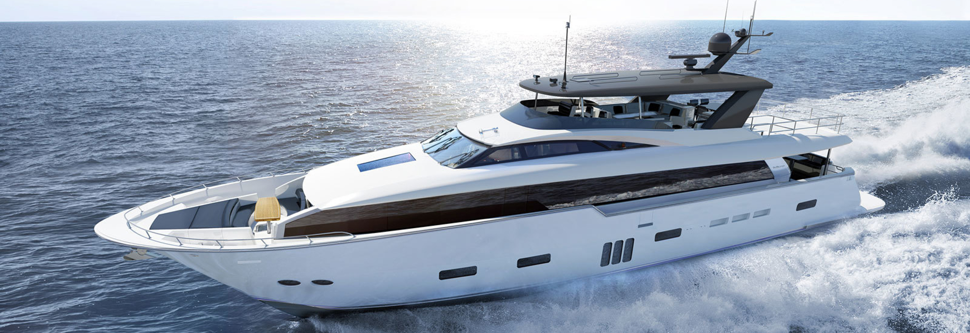 Lancement du premier Hatteras 105 Raised Pilothouse