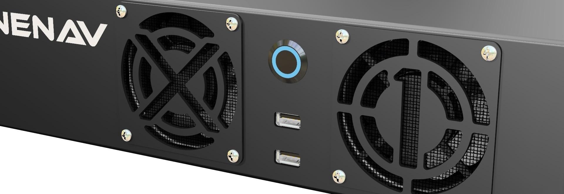 MarineNav ? ordinateur monté sur crémaillère de s X1, versions standard et fanless dont maintenant sont lancés sur le marché dans l'ensemble de l'Europe pour hydrographique et d'autres applications...