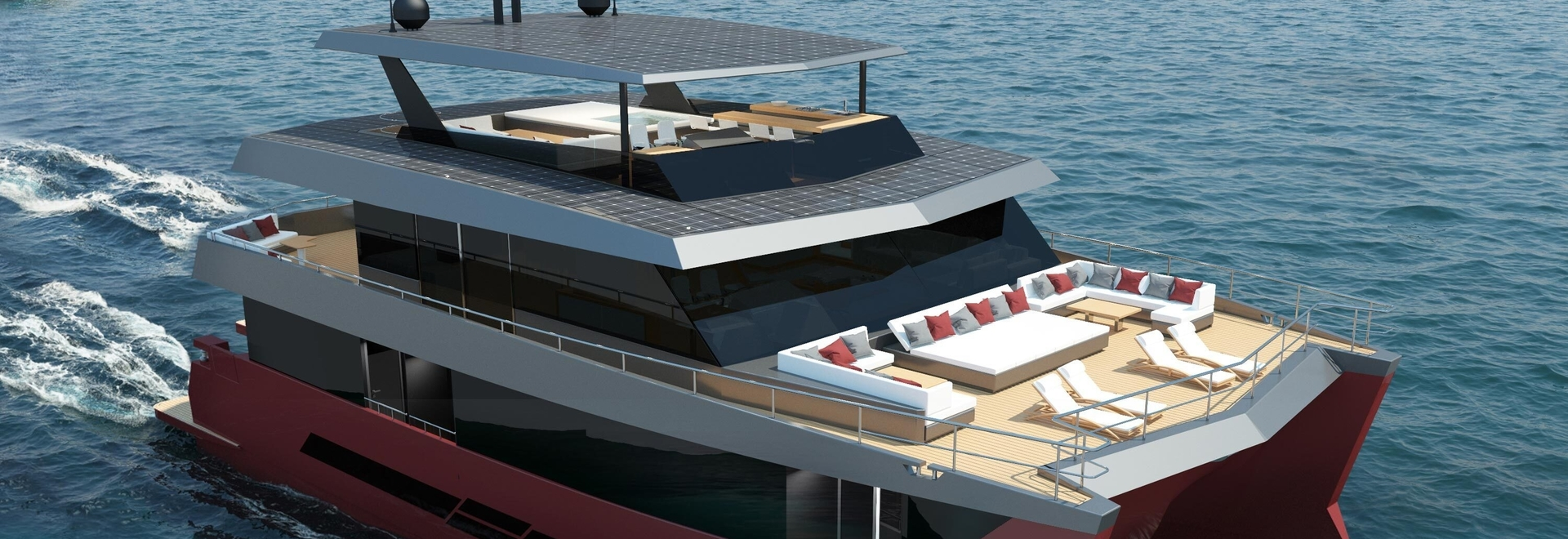 Spaceline 100 Hybrid, un nouveau concept de catamarans à moteur de luxe