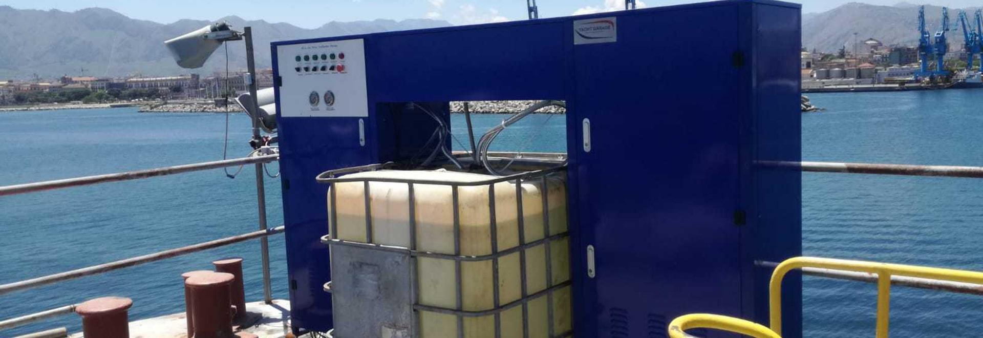 Station de traitement d'eau du chantier naval