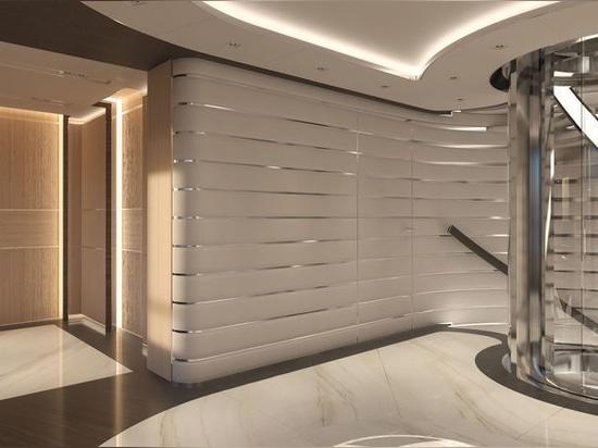 Conception exclusive de yacht de Sinot pour concevoir le plus grand intérieur de superyacht de Heesen