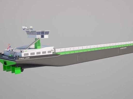 Damen achève la construction de la première barge intérieure diesel-électrique pour Sendo Shipping