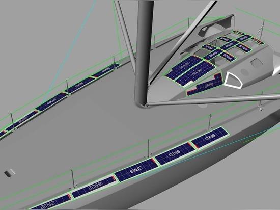 La conception finale du système - 1.149Wp, pesant seulement 24,5kg, adhésif inclus