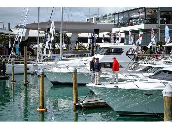 Auckland On the Water Boatshow - Le soleil brille le dernier jour