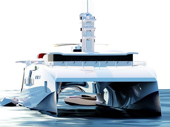 Nick Stark lance une série hybride de yachts de support de nouvelle génération de 70 m et plus