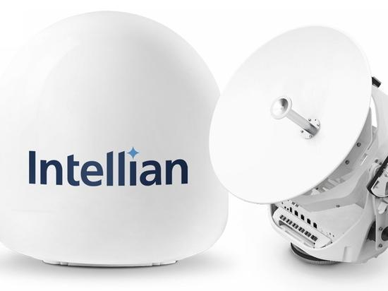 La nouvelle antenne v45C innovante d'Intellian permet aux petits navires de bénéficier des services VSAT