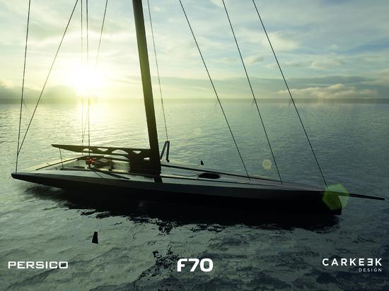 Persico Marine et Carkeek Design Partners présentent le F 70, un voilier-racer de jour à voile intégrale