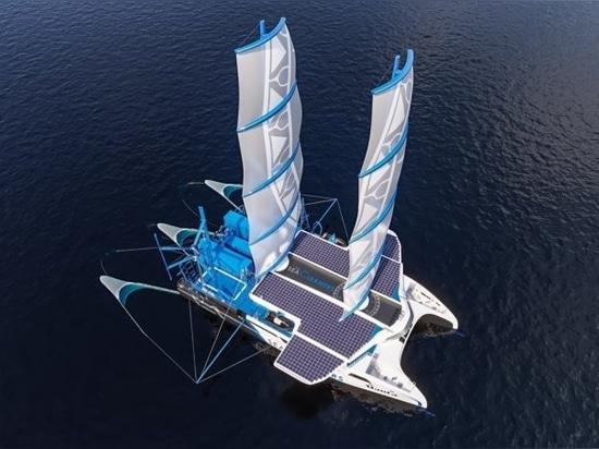 """Manta"""" : un voilier géant à l'assaut de la pollution plastique océanique"""