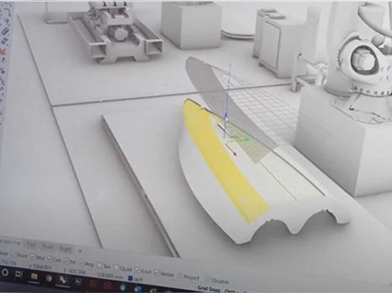 Modélisation 3D des couches à multiples facettes du produit, à partir d'une vidéo