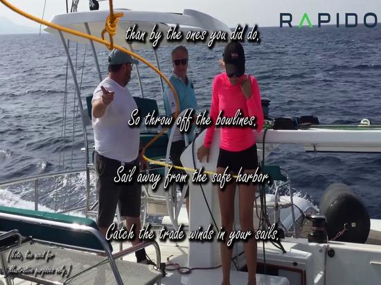Larguez les amarres de proue et partez à bord d'un trimaran Rapido !