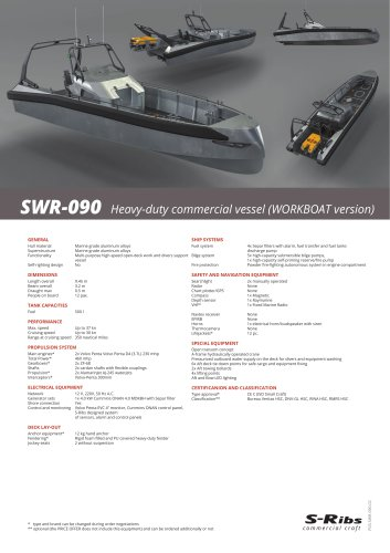 SWR-090 (PDS.SWR-090.03) Workboat/Divers Support Version