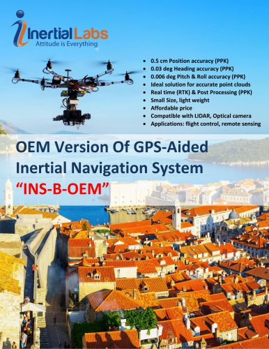 INS-B-OEM: OEM version of Single Antenna Inertial Navigation System