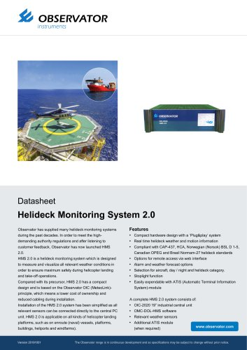 Helideck Monitoring System 2.0