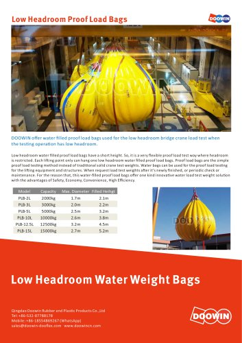 Low Headroom Proof Load Bags