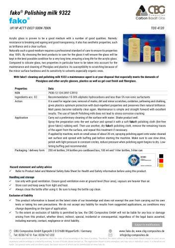 TDS FAKO-CBG 9322 Polishing milk