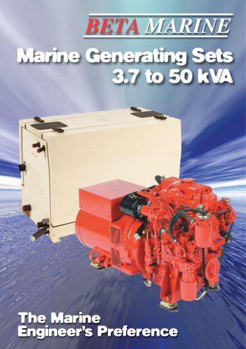 Marine Generating Sets 3.7 to 50 kVA