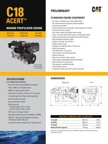 C18 ACERT (1015, 1150 mhp) - Pleasure Craft