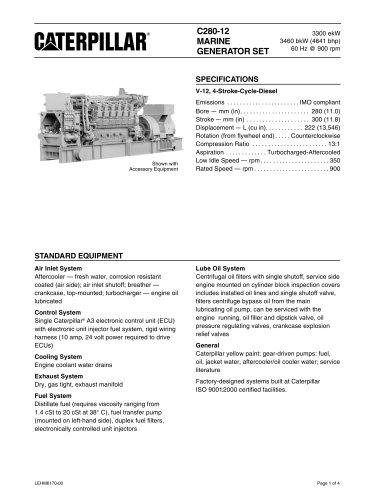 Cat C280-12 Spec Sheets