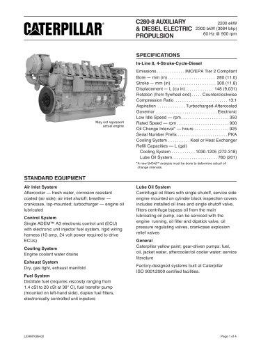 Cat C280-8 Genset Spec Sheet
