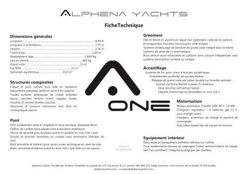 ALPHENA ONE