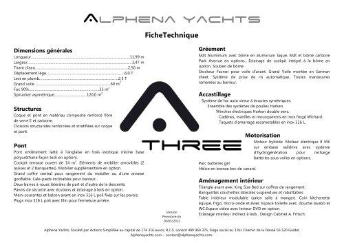 ALPHENA THREE