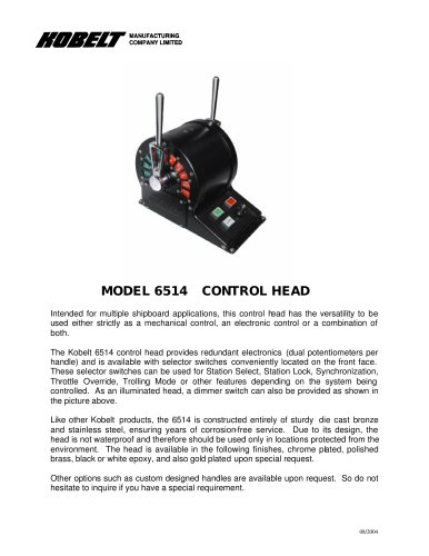 6514 - Product Spec Sheet