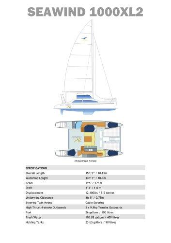 Seawind 1000XL2 Standard Specifications