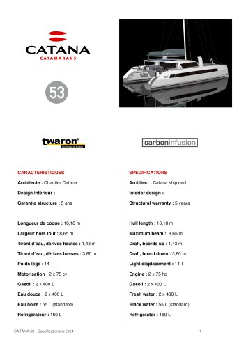 specifications c53