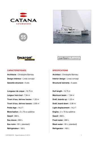 specifications-c55