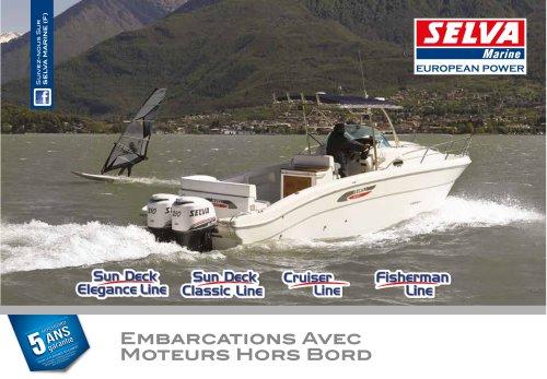 Sun Deck Elegance Line, Sun Deck Classic Line, Cruiser Line, Fisherman Line