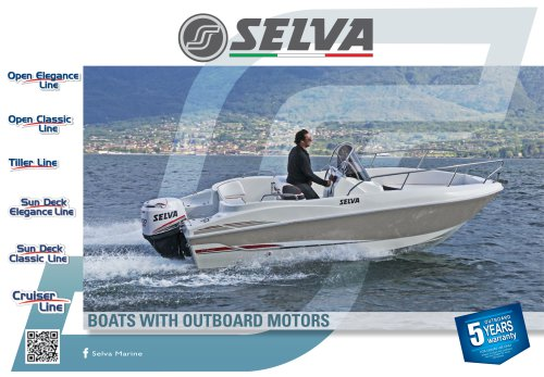 Fibreglass boat Open elegance, Open classic, Tiller, Sun Deck Elegance, Sun Deck Classic, Cruiser, Fisherman Line