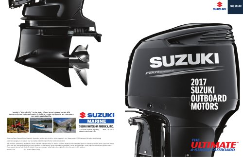 2017 Suzuki Outboard Motors Catalog