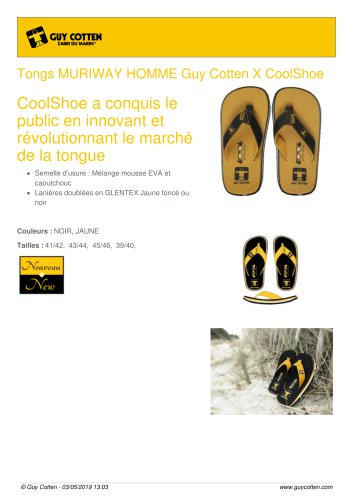 Tongs MURIWAY HOMME Guy Cotten X CoolShoe