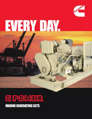 C POWER MARINE GENERATING SETS
