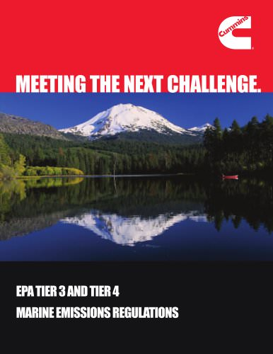 EPA TIER 3 AND TIER 4 MARINE EMISSIONS REGULATIONS