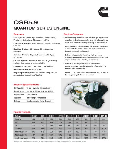 QSB5.9 Quantum SerieS engine
