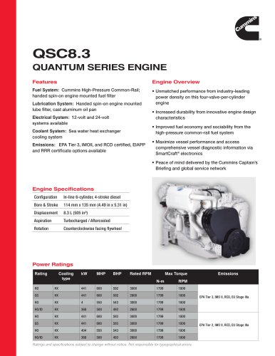 QSC8.3 Quantum Series Engine