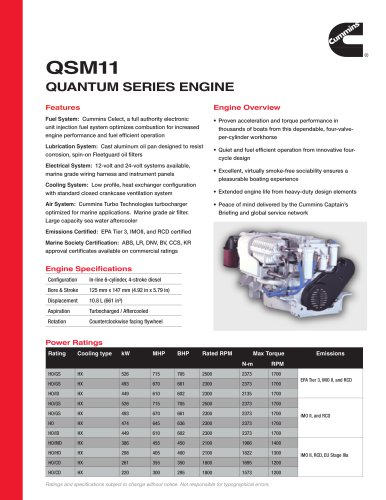 QSM11 Quantum Series Engine