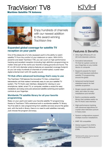 TracVision TV8 Leisure Datasheet