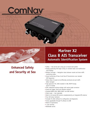 Mariner X2 Class B AIS Transceiver Automatic Identification System