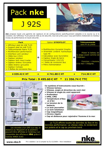 Pack nke - J Boat