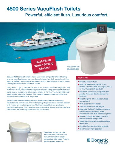4800 Series VacuFlush Toilets