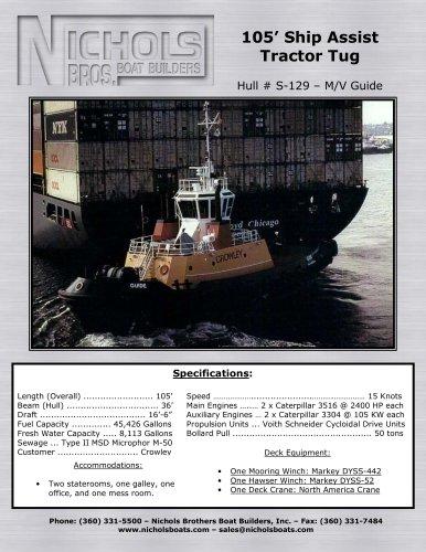 M/V Guide-Tug boat