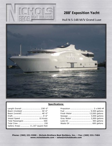 S-148 M/V Grand Luxe