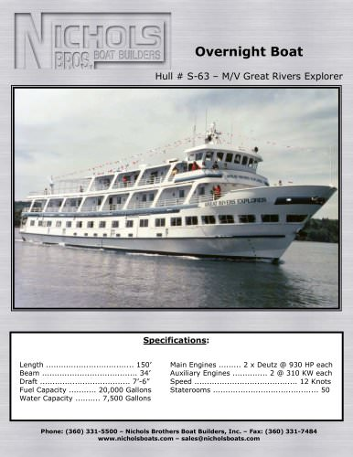 S-63 Great Rivers Explorer